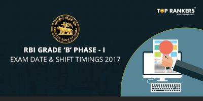 RBI Grade B Phase-I Exam Date and Shift Timing 2017