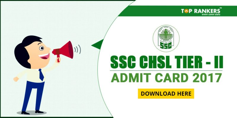 SSC CHSL Admit Card 2017