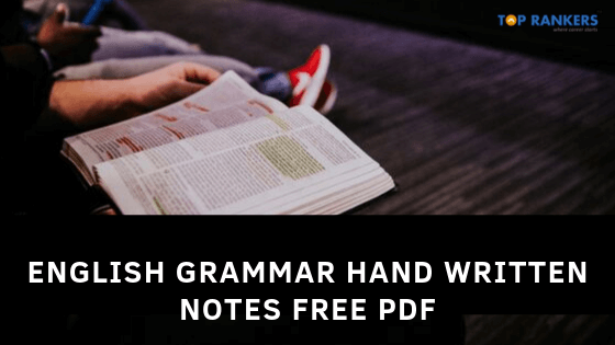 English Grammar Hand Written Notes FREE PDF