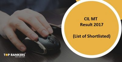 Coal India MT Result 2017  – Check Management Trainee Result Here