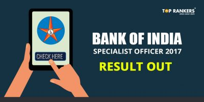 Bank of India SO 2017 Result Declared – Check Here