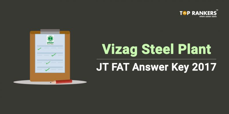 Vizag Steel Plant JT FAT answer Key 2017