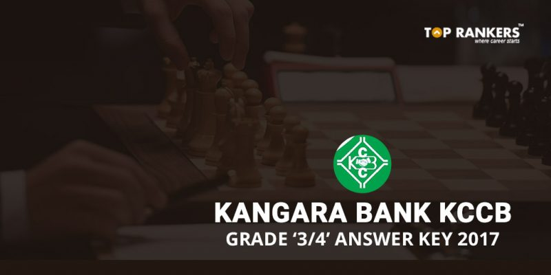 Kangara Bank KCCB Grade 3 & 4 Officers Answer key 2017