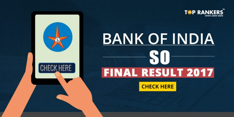 Bank Of India SO Final Result 2017