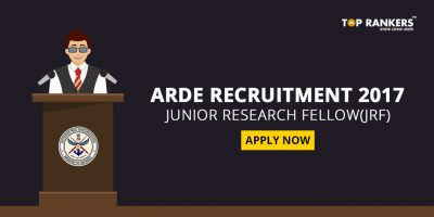 ARDE Recruitment 2017 –  Junior Research Fellow(JRF)