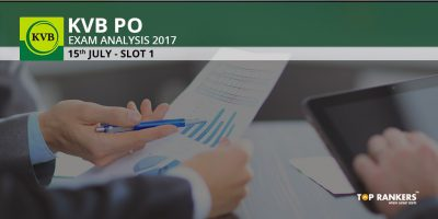 KVB PO Exam Analysis 2017 Slot 1- 15th July