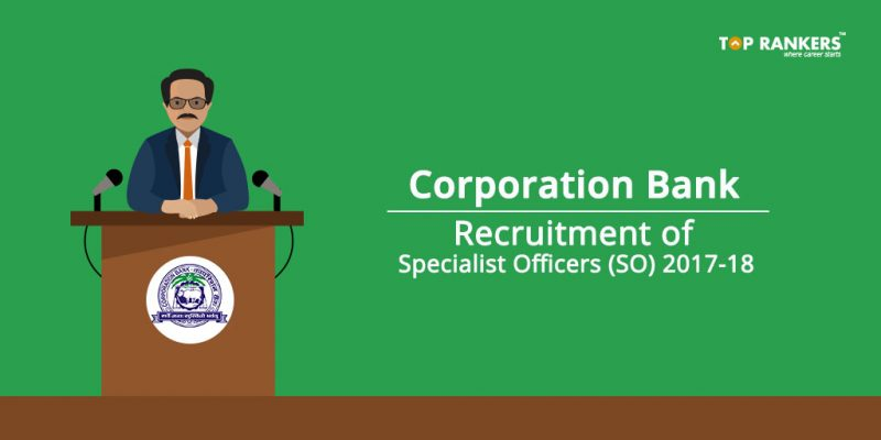 Corporation Bank Recruitment 2017
