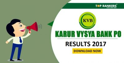 KVB PO Result 2017 – Check Here