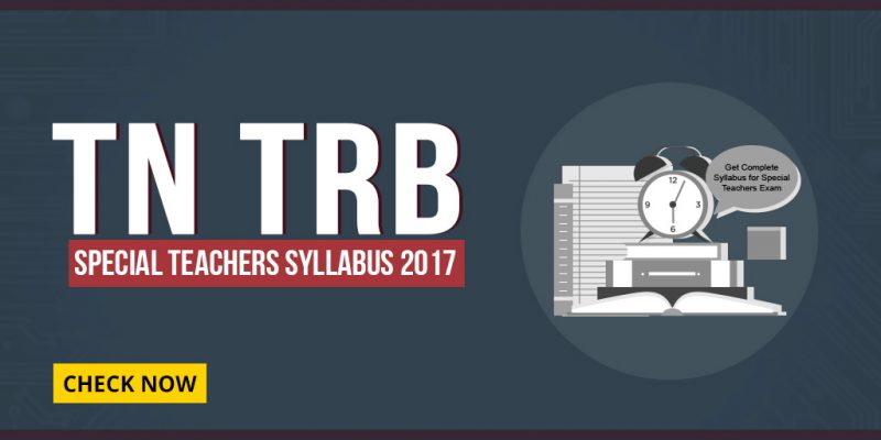 TN TRB Special Teachers Syllabus 2017