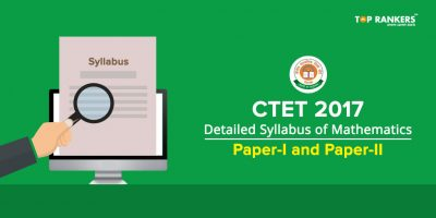 Detailed Syllabus of Mathematics for CTET 2017:  Paper I and Paper-II