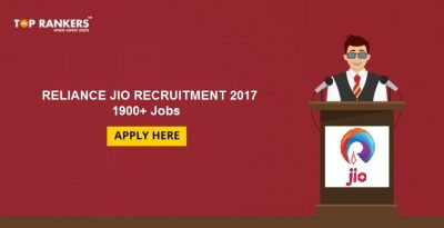 Reliance Jio 2017 Recruitment- 1900+ Vacancies