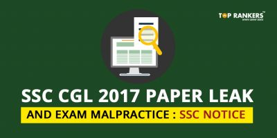 SSC CGL 2017 Paper Leak and Exam Malpractice : Official SSC Notice
