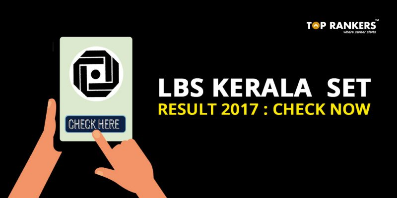 LBS Kerala SET Result 2017