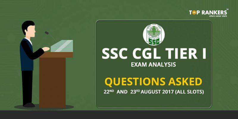 SSC CGL Tier 1 Questions Asked 2017
