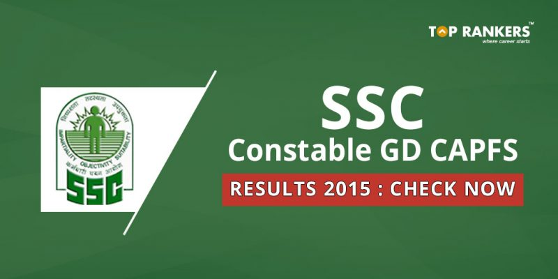 SSC Constable GD CAPFS Result 2015