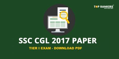 SSC CGL Tier 1 Question Paper 2017 With Answer Key PDF Download