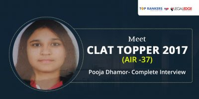CLAT 2017 Topper Interview: AIR 37 Pooja Dhamor by LegalEdge-TopRankers