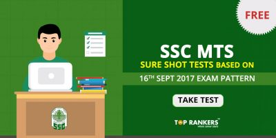 SSC MTS Sure Shot Test Based on 16th September 2017 Actual Exam Pattern