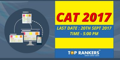 Last date to apply for CAT 2017 is 20th September 2017