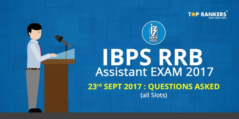 IBPS RRB Office Assistant Questions Asked 23rd Sept 2017