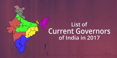 List of current Governors in India in 2017
