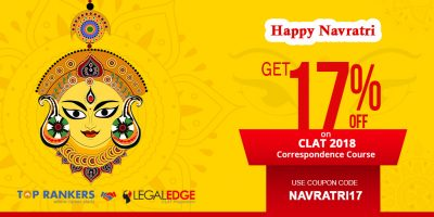 FLAT 17 PERCENT OFF ON CLAT EXAMS TEST SERIES – Navratri Special Offer