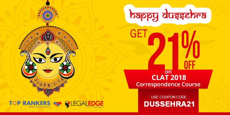 Dussehra Special: Get 21% Off on CLAT Correspondence course & Mock Test By LegalEdge