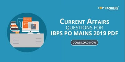 Current Affairs Questions For IBPS PO Mains