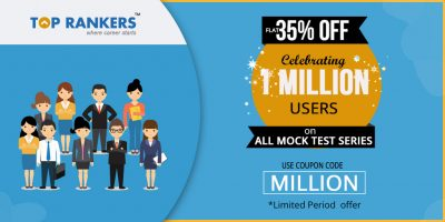 TopRankers Celebrating 1 Million Learners, Flat 35% Off on All Mock Test Series