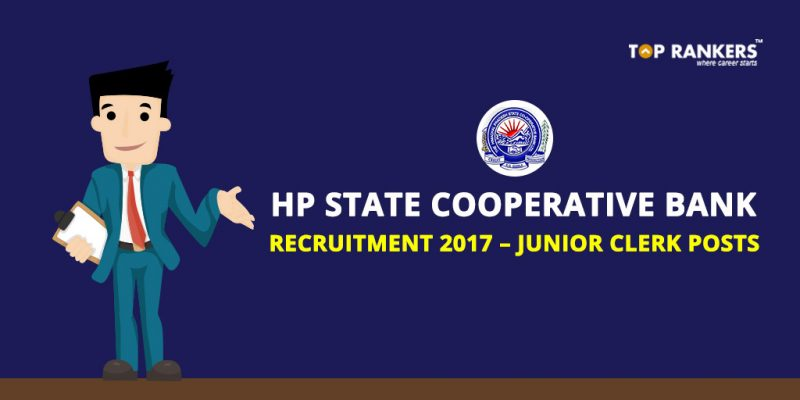 HP State Cooperative Bank Recruitment 2017 – Junior Clerk Posts