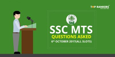 SSC MTS Exam Question Asked 2017 6th October (All Slots)