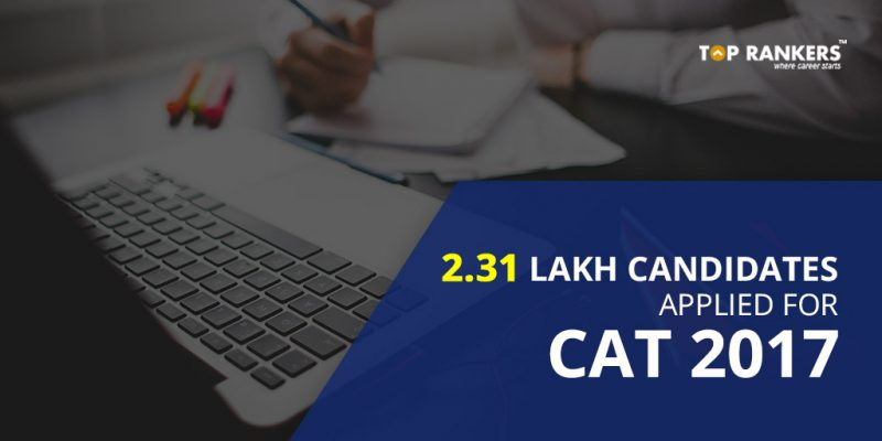 2.31 lakhs candidates register for CAT 2017