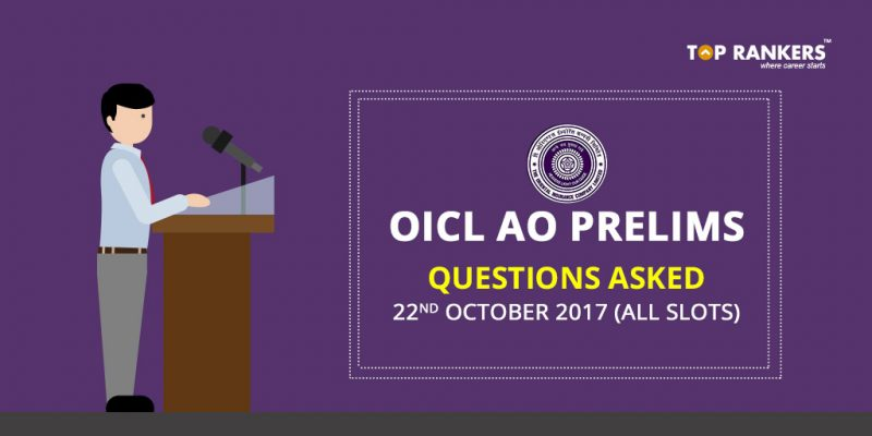 OICL AO Prelims Questions Asked