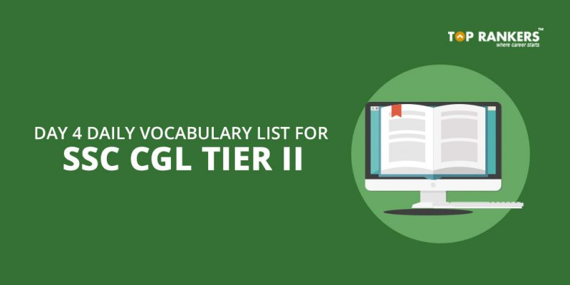 Day 4 - Daily Vocabulary for SSC CGL Tier 2 PDF