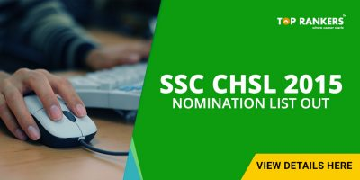 SSC CHSL 2015 Nomination List Out