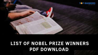 IBPS PO General Awareness – List of Nobel Prize Winners PDF Download
