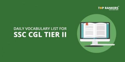Daily Vocabulary List for SSC CGL Tier 2 PDF – Day 10