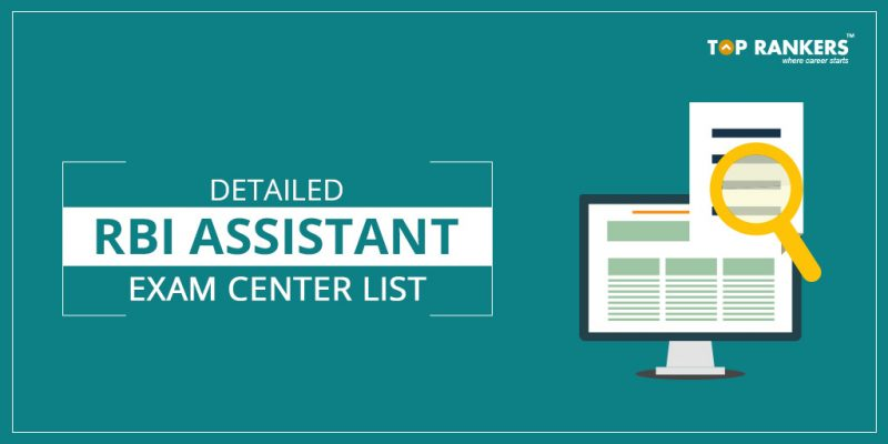 RBI Assistant 2017 Exam Centers