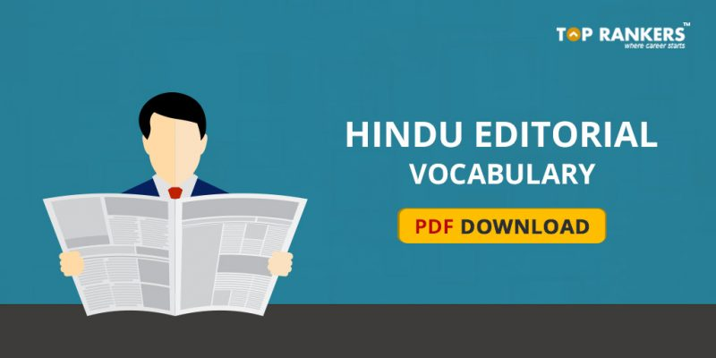 Hindu Editorial Vocabulary 30th October 2017