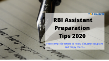 RBI Assistant Preparation Tips for Prelims 2020