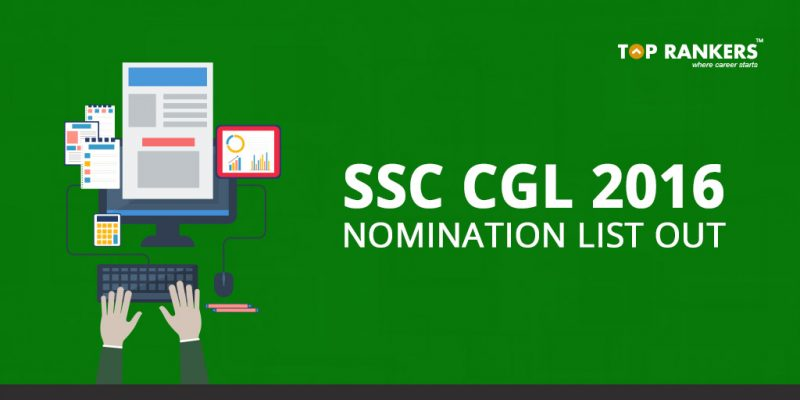 SSC CGL 2016 Nomination List