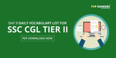 Daily Vocabulary List for SSC CGL Tier 2 PDF – Day 9