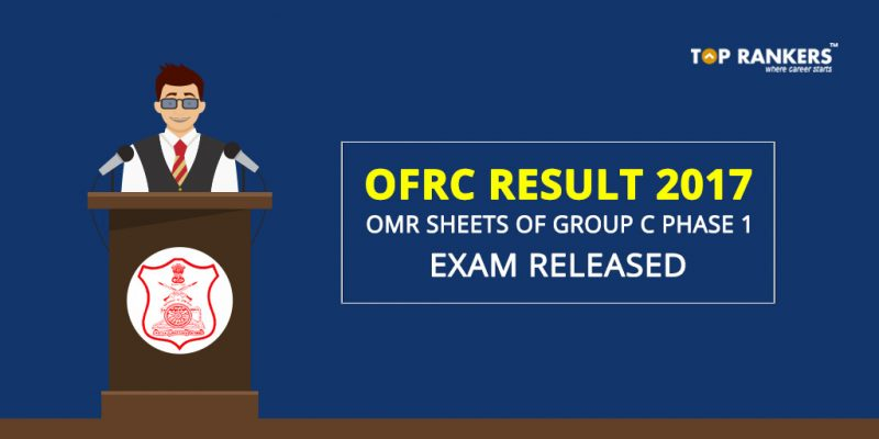 OFRC OMR Sheets Of Group C Phase 1 Exam 2017