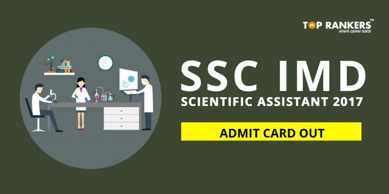 SSC Scientific Assistant Admit Card 2017
