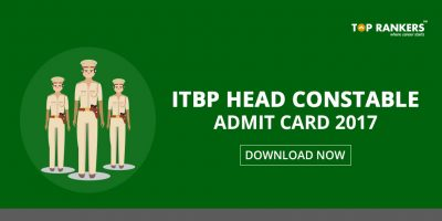 ITBP Admit Card 2017 for Head Constable