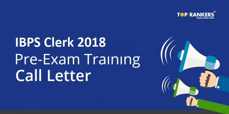 IBPS Clerk Pre-Exam Training Call Letter