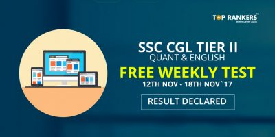 SSC CGL Tier 2 Quant and English Free Weekly Test Result