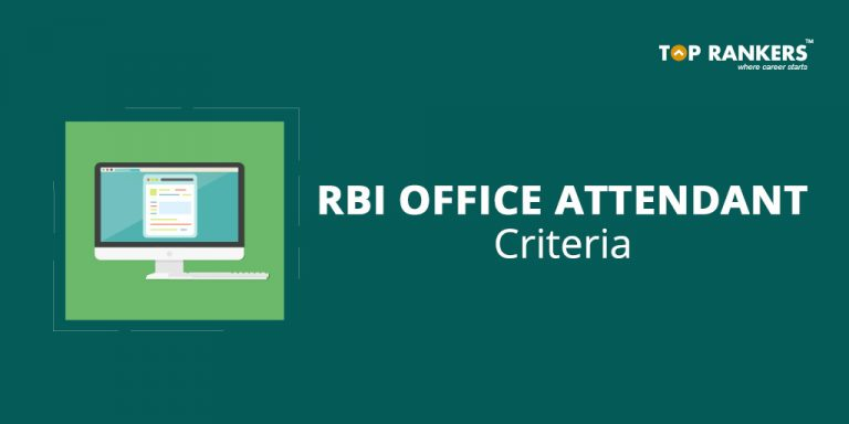 RBI Office Attendant Eligibility Criteria