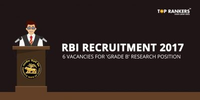RBI Recruitment 2017 for Grade B Researcher – Direct Link to Apply