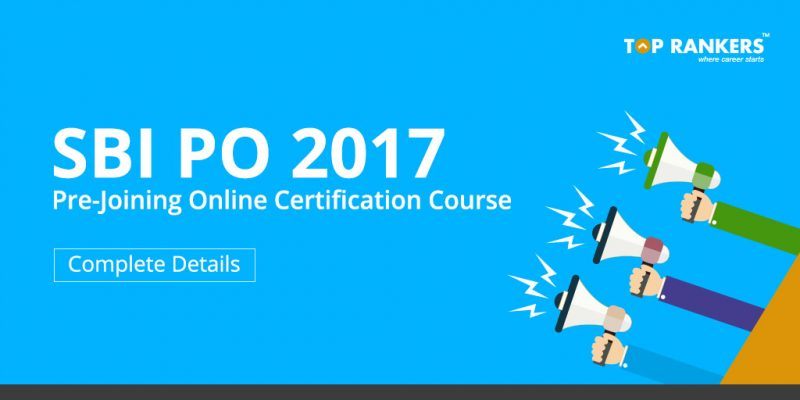SBI PO Pre-Joining Online Certification Course